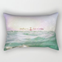 Refuse To Sink Rectangular Pillow