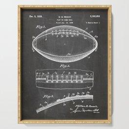 Football Patent - American Football Art - Black Chalkboard Serving Tray
