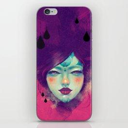 Black Rain iPhone Skin