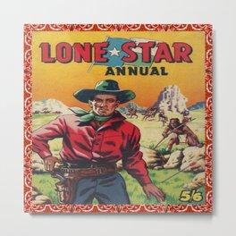 Vintage Western Movie Poster Print Lone Star Metal Print