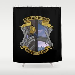 Steel worker Shower Curtain