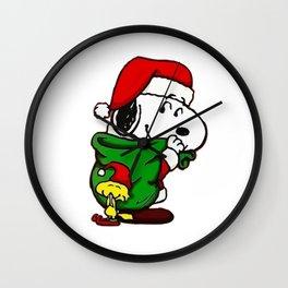 Snoopy Christmas Wall Clock