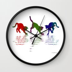 CATS RAINBOW II Wall Clock