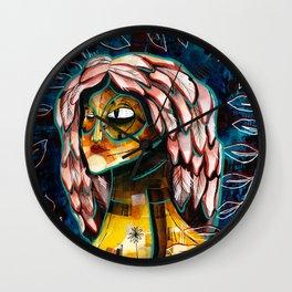 Goddess of Nature/Watercolor painting Wall Clock