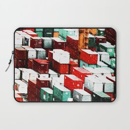 Mint Red Shipping Containers  Laptop Sleeve