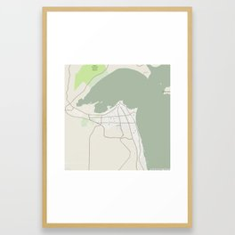 Minimalist Modern Map of kuwait City, Kuwait 3 Framed Art Print