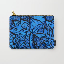 Tangle on blue Carry-All Pouch