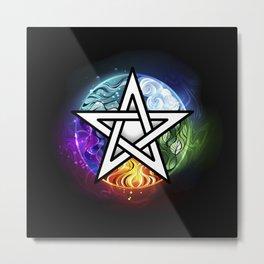 Glowing pentagram Metal Print