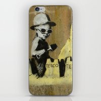 banksy iPhone & iPod Skins featuring Banksy on the beach by Shalisa Photography