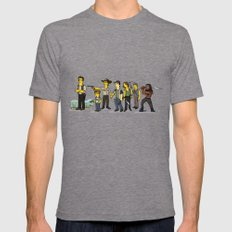 The Walking Dead cast Tri-Grey Mens Fitted Tee LARGE