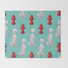 HYDRANTS AND WEIMARANERS Throw Blanket