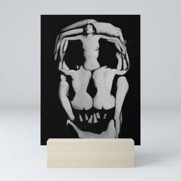Rare 1951 Salvador Dali Skull of Nudes B&W Photograph Mini Art Print