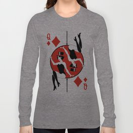 Sawdust Deck: The Queen of Diamonds Long Sleeve T-shirt