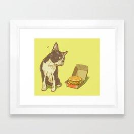 Mason + Big Mac = <3 Framed Art Print