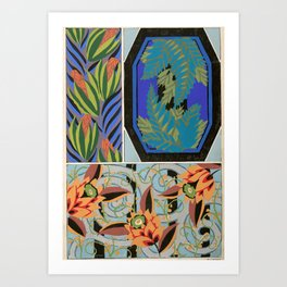 Vintage Art Deco design Art Print