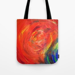 Dynamic Swirls of Color - Red Tote Bag