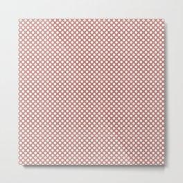Desert Sand and White Polka Dots Metal Print