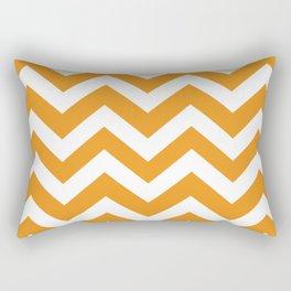 Carrot orange - orange color - Zigzag Chevron Pattern Rectangular Pillow