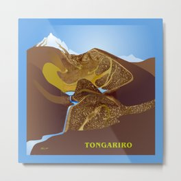 Magic Water - Tongariro National Park Metal Print