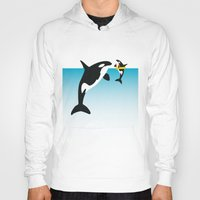 orca Hoodies featuring Orca by WyattDesign