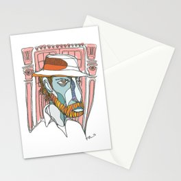 I saw emptiness and found myself there Stationery Cards