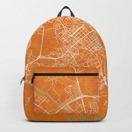 Uppsala, Sweden, Gold, Blue, City, Map Backpack
