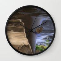 oz Wall Clocks featuring OZ by Nathan Fergason