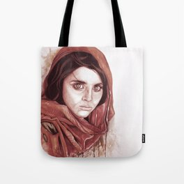 Sharbat Gula black/white Tote Bag