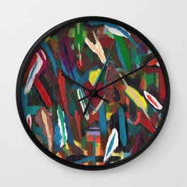 Colour by Instinct Wall Clock