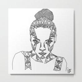 Geometric portrait Metal Print