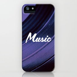 Music on Record. (Purple) iPhone Case