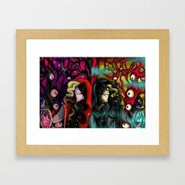 Through the Eye Forest Framed Art Print