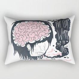 ive got worms in my head Rectangular Pillow