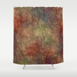 Colorful Earth Tones Brown Blue Abstract Shower Curtain