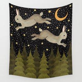 midnight hare Wall Tapestry