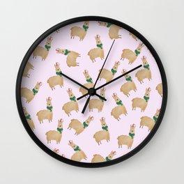 llama dreams Wall Clock