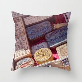 Vintage Meds Throw Pillow