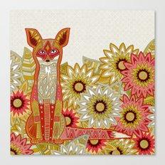 garden fox linen Canvas Print