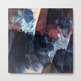 dark blue & marsala Metal Print