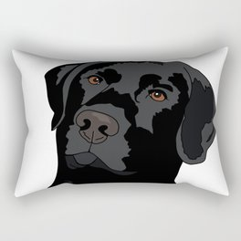 Duke the black lab Rectangular Pillow