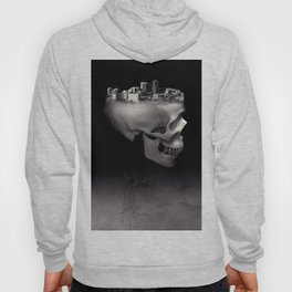 Urban Skull Horror Black and White City Hoody