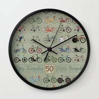bicycle Wall Clocks featuring Bicycle by Wyatt Design