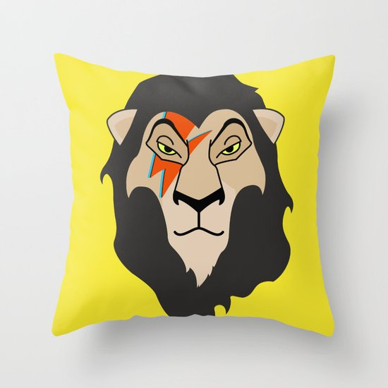 The Bowie King Throw Pillow