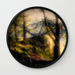 Misty Solitude, The Way Through The Woods Wall Clock