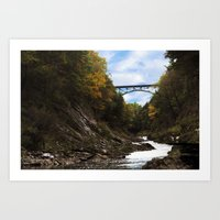 vermont Art Prints featuring Vermont Gorge  by Katie_Photography