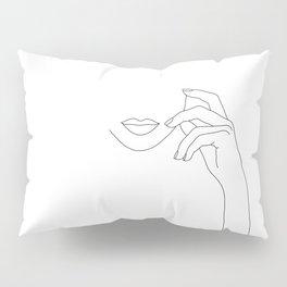 Hands line drawing illustration - Greta Pillow Sham