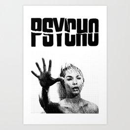 PSYCHO - JANET LEIGH Art Print