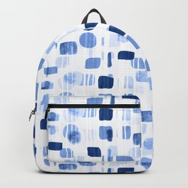Blue Abstract Gouache Shapes  Backpack