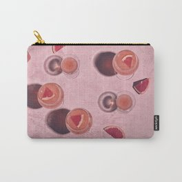 Pink grapefruits with glasses and hard shadows Carry-All Pouch