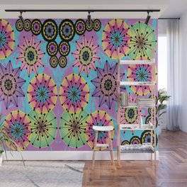Vibrant Abstract Floral Pattern Wall Mural